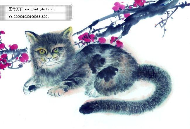 中华艺术绘画_古画_动物绘画_猫_中国古代绘画