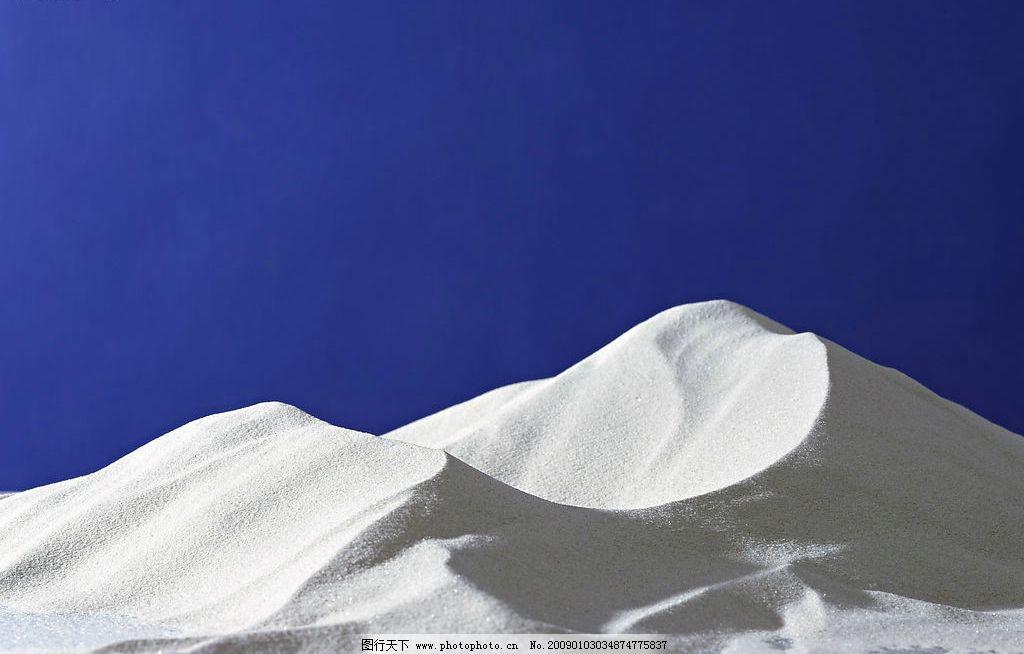 雪山 蓝色天空背景 砂石 沙漠 其他 图片素材 摄影图库 350dpi jpg