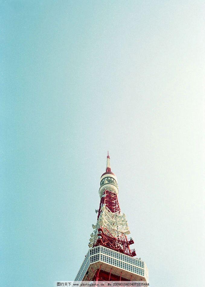 仰视东京铁塔图片