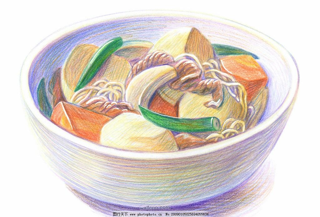 手绘食物_面条图片
