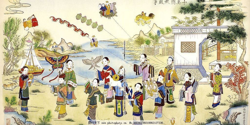 十美图 民俗 民风 过年 年画 壁画 传统 文化 十 美 文化艺术 传统