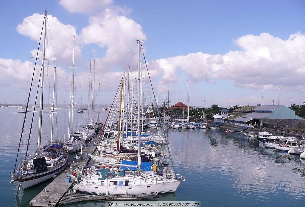 港口 船只 码头 帆船 海岸 天空 白云 自然风光 山水剪影 原创摄影