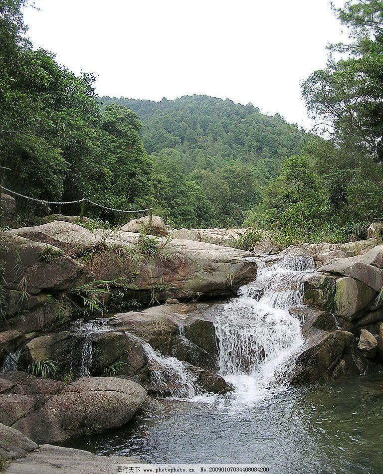 山水剪影 树木 树林 河流 小溪 流水 山恋 石头 自然风光 旅游胜地