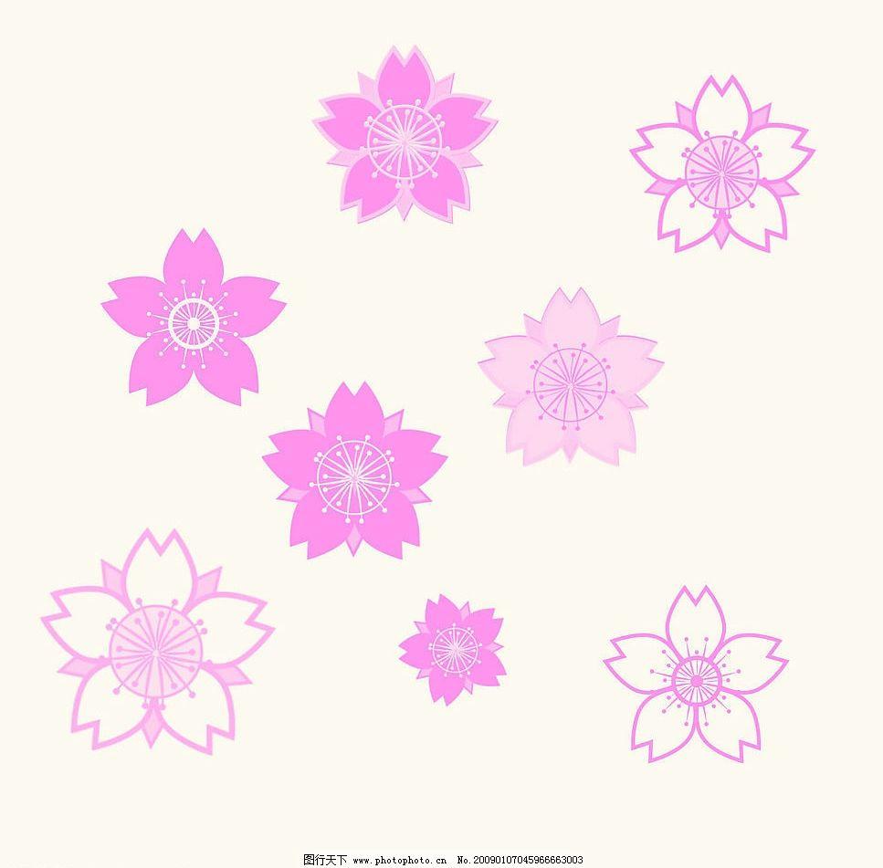罂花 矢量图