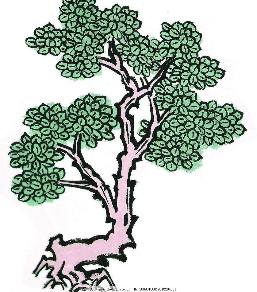 树木 国画 植物 素材 文化艺术 传统文化 设计图库 写意 72dpi jpg