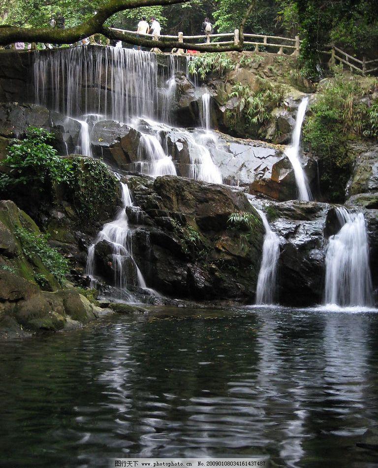 叠泉 瀑布 旅游摄影 自然风景 摄影图库 180dpi jpg
