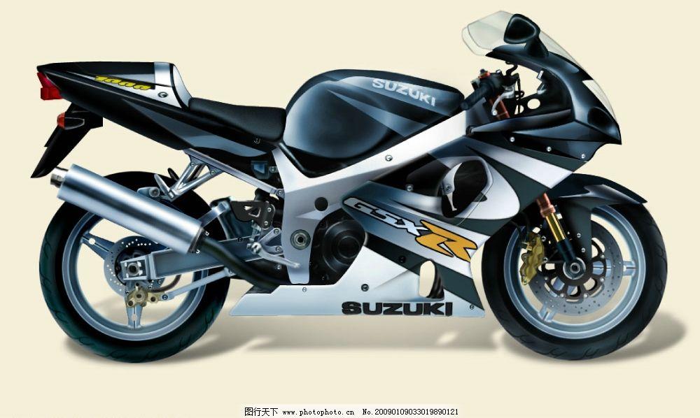 手绘摩托车 摩托车 psd分层素材