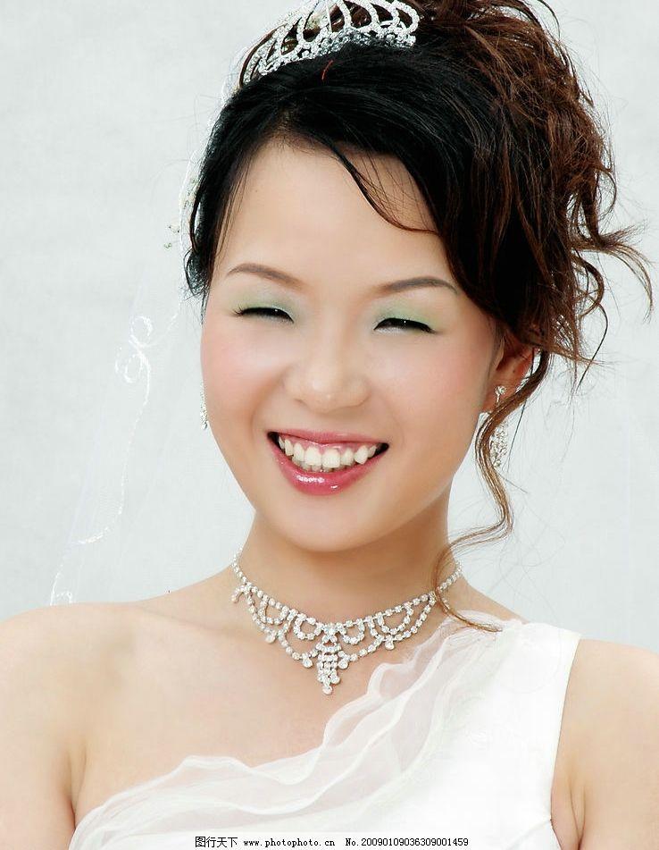 婚纱 摄影 新娘 特写 璀璨笑容 人物图库 人物摄影 摄影图库 素材收藏