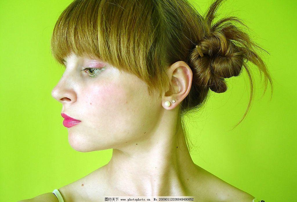 美女头像 美女      外国人 洋人 女人 女性 金发 人物图库 女性女人