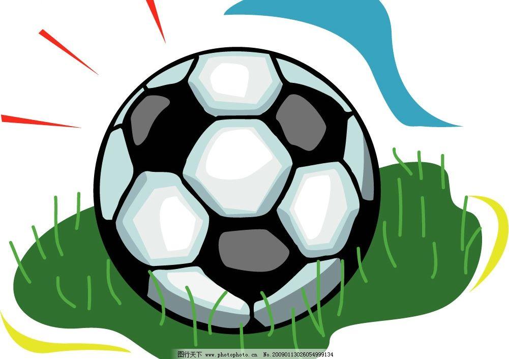 草坪足球矢量图片
