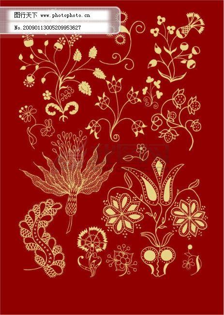 古典花纹与孔雀
