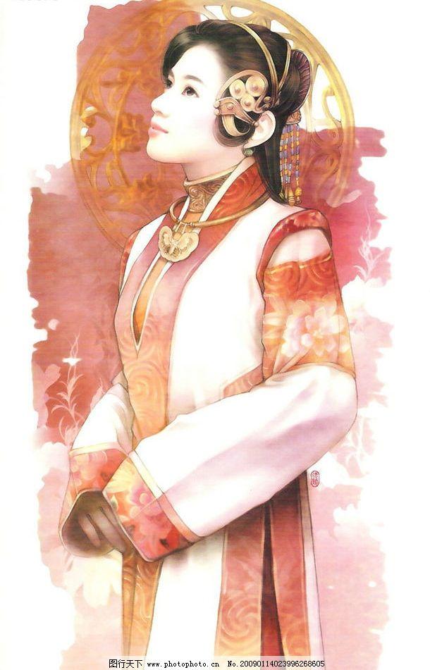 精美手绘古装美女 手绘 古装 美女 人物图库 其他 设计图库 150dpi