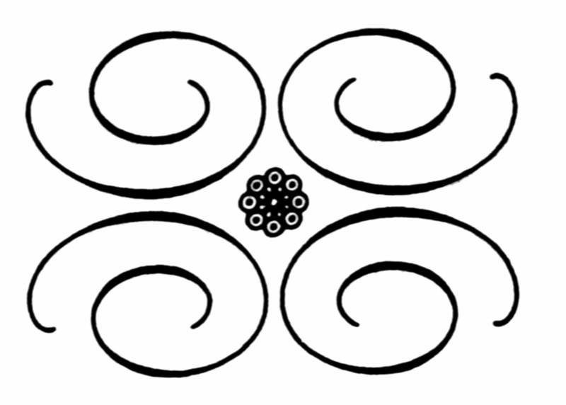 几何设计手绘线稿