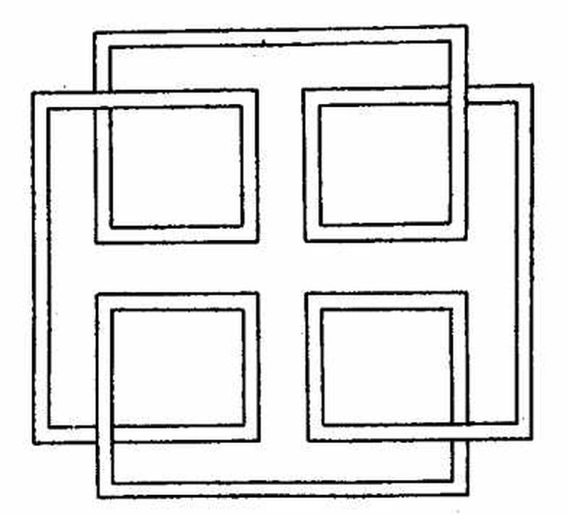 唐朝花纹平面图