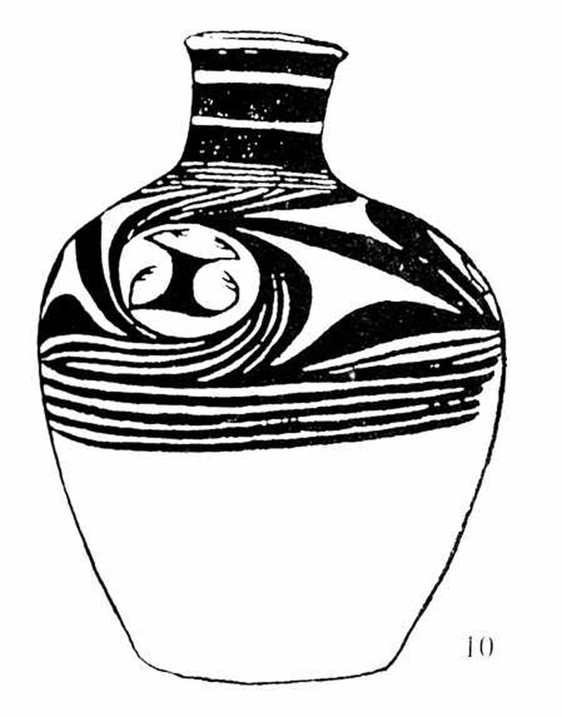 瓶子花纹手绘图