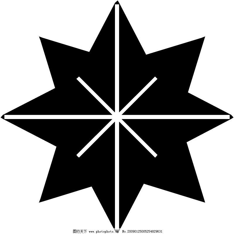 星状0544_花纹花边_矢量图_图行天下图库