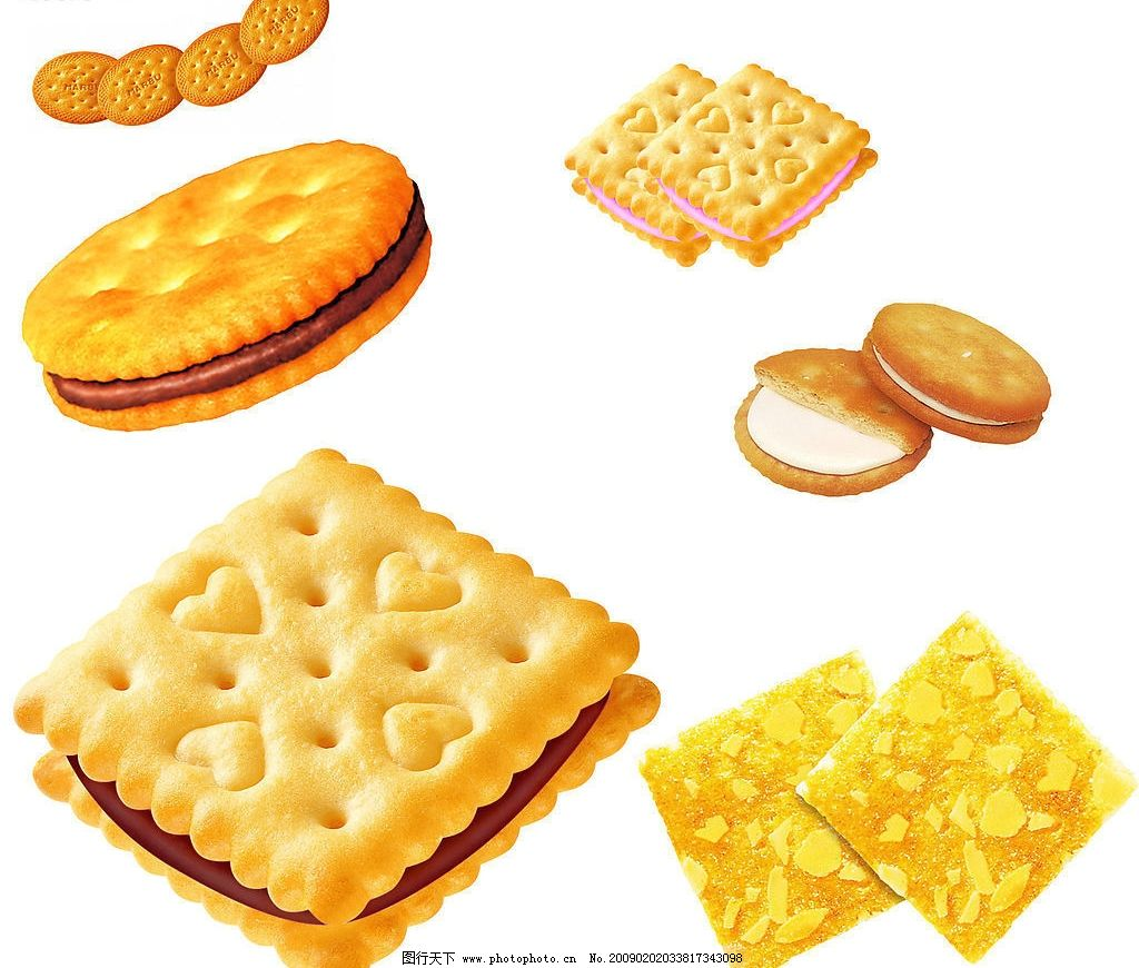 饼干 夹心饼干 杏仁饼干 巧克力饼干 糕点 食物素材 其他 源文件库