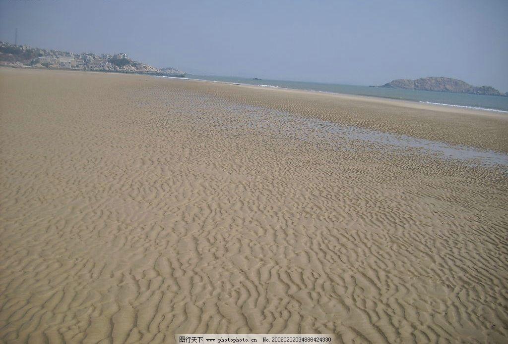 海边沙景 海边 沙滩 大海 小岛 自然景观 自然风景 摄影图库 96dpi