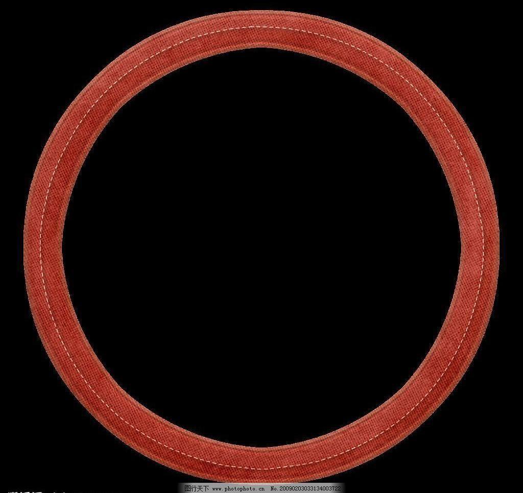 圣诞 红色 圆形边框 可爱 文化艺术 节日庆祝 设计图库 72dpi png psd
