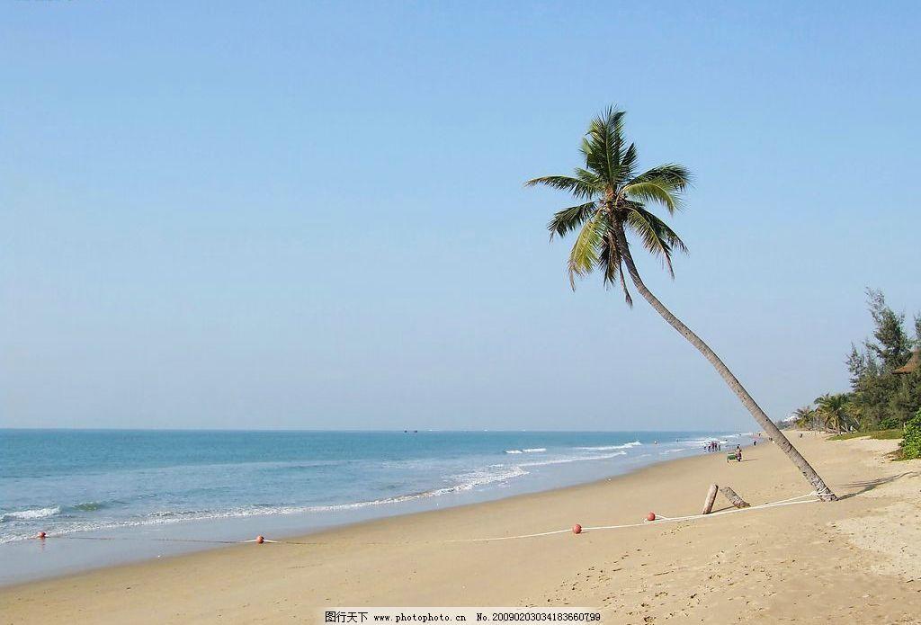 海南沙滩 海南 沙滩 椰树 大海 旅游摄影 自然风景 摄影图库 72dpi