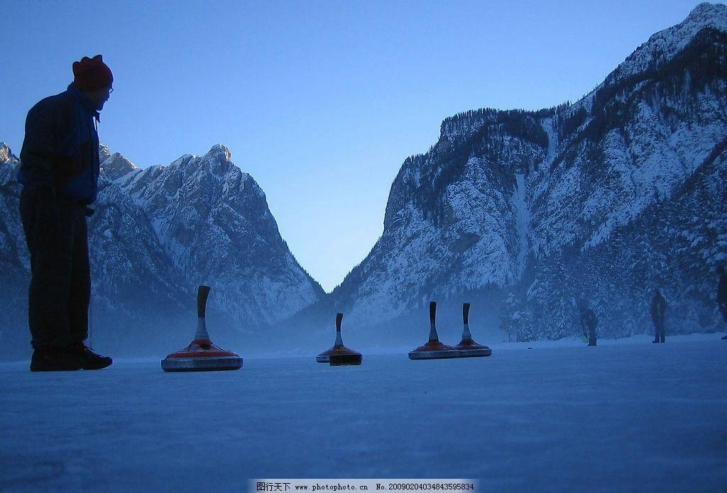 冬季雪景 雪 冰山 雪山 天空 雪上运动 自然景观 自然风景 摄影图库