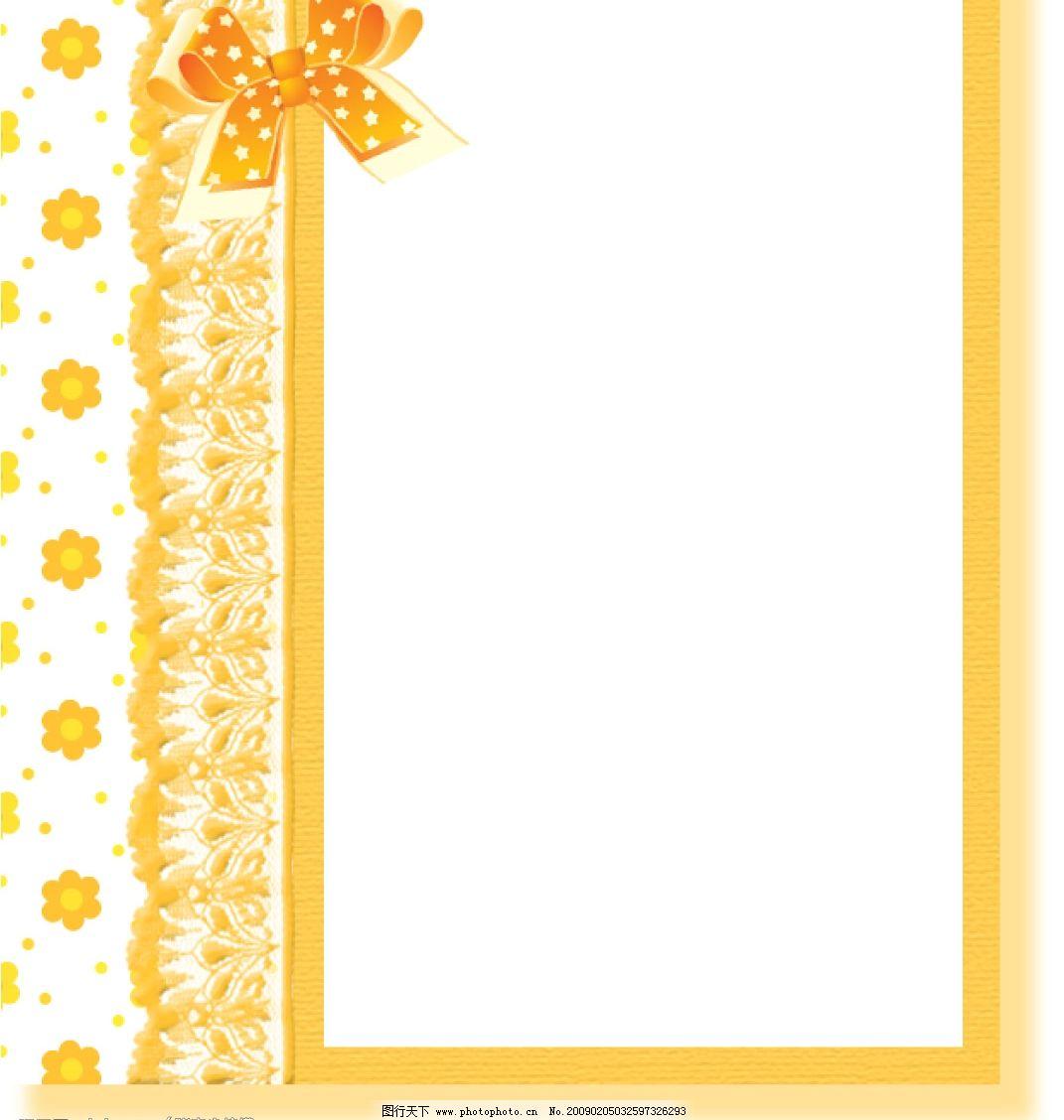 日系风格的蕾丝蝴蝶结相框图片