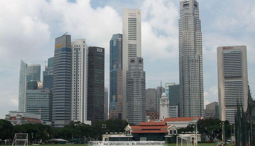 新加坡高楼群 新加坡 楼群 城市 现代文明 发达 旅游摄影 国外旅游
