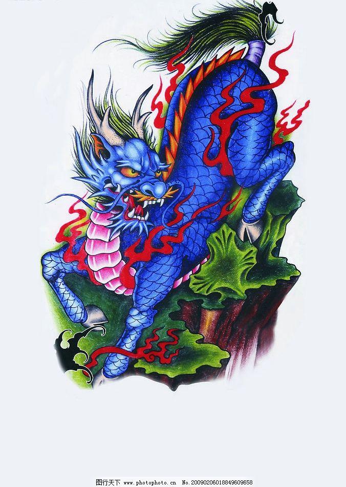 麒麟刺青 麒麟 刺青 纹身 艺术 文化艺术 传统文化 设计图库 300dpi图片