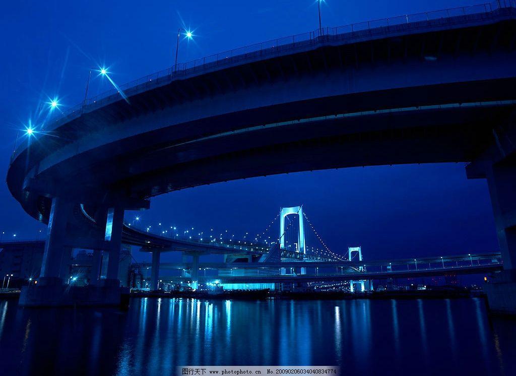 香港金马大桥夜景图片