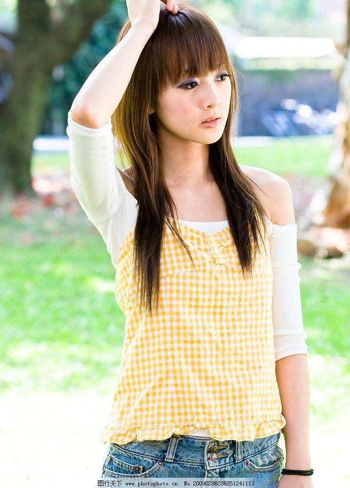 校花 张凯洁 漂亮 美丽 阳光 公园 小公主 清纯 活力 青春 甜美 可爱