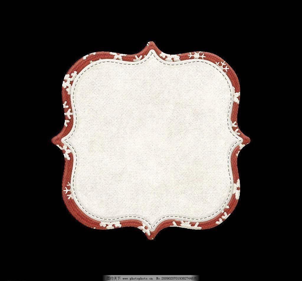 圣诞系列之边框相框图片 圣诞 边框 相框 白底红边 可爱 方形框 文化