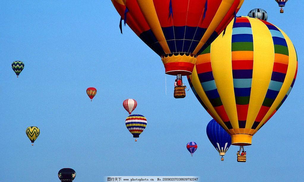彩色的热气球图片