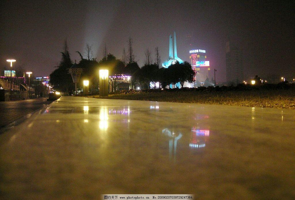泉城广场夜景图片