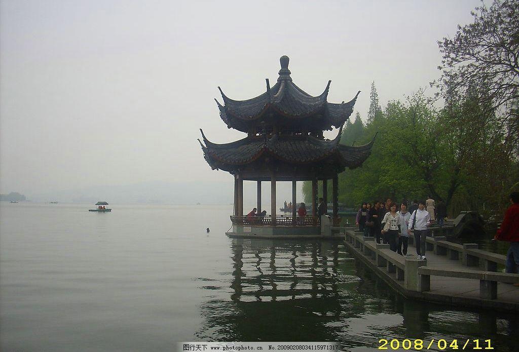 亭子 杭州 西湖 风景 旅游摄影 自然风景 摄影图库 96dpi jpg