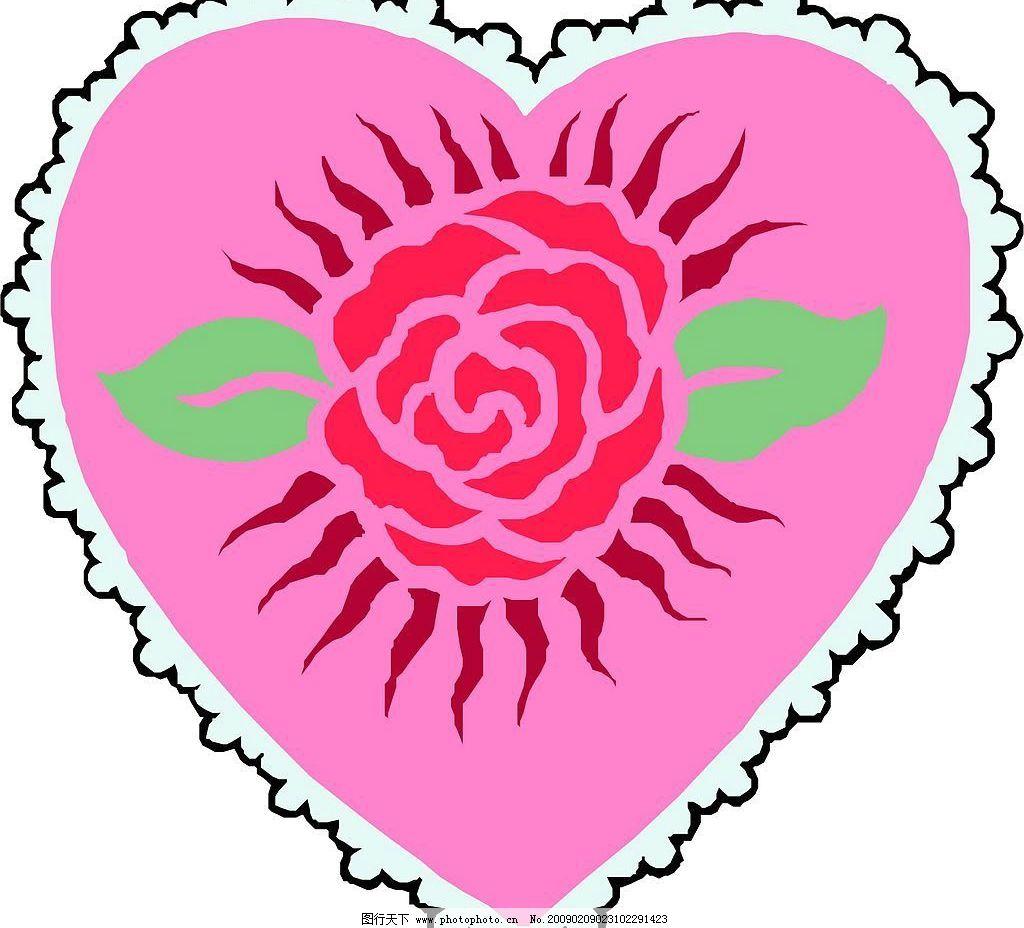 心中的玫瑰图片