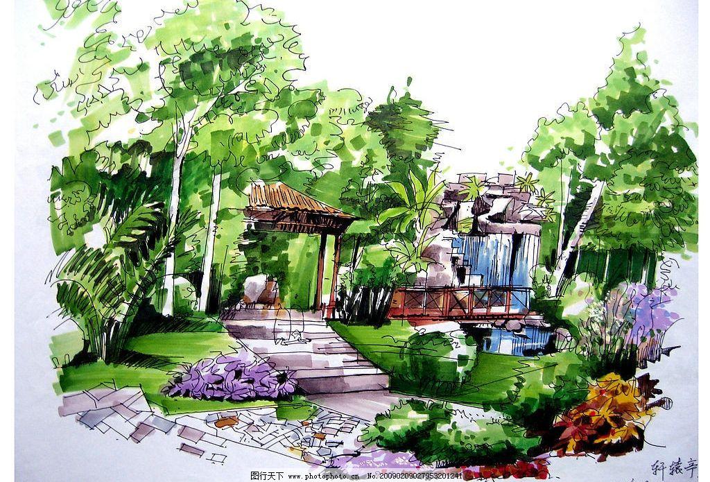 佳倩手绘效果图园林绿化图片