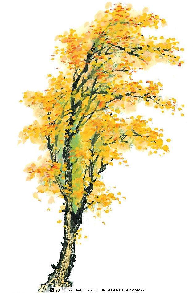 树木图片_绘画书法_文化艺术_图行天下图库