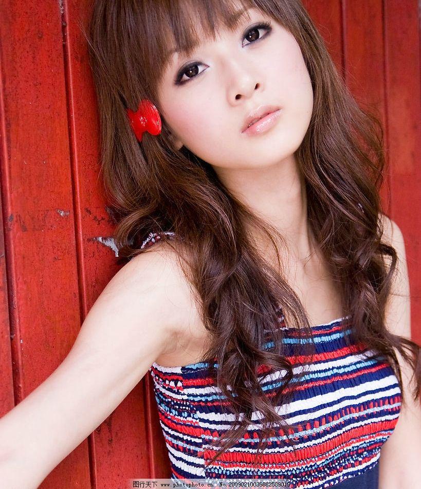 甜美 可爱 可人 发夹 头饰 气质 人物图库 明星偶像 摄影图库 美女