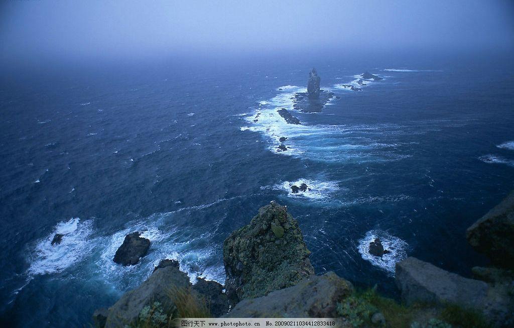 海纳百川 大海 礁石 蓝天 自然景观 山水风景 摄影图库 350dpi jpg