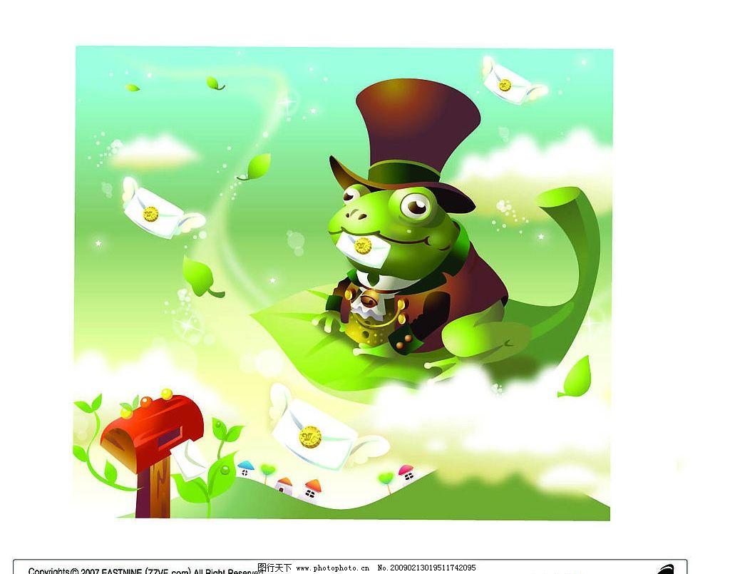 写信的青蛙王子图片_其他_文化艺术_图行天下图库