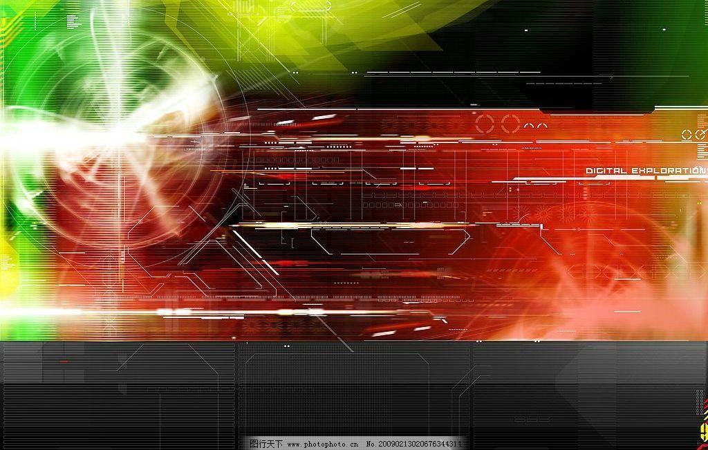 酷炫科技背景图片素材 酷炫 抽象 红色 绿色 科技 背景 图片 现代科技 其他 设计图库 72DPI JPG 底纹边框 抽象底纹