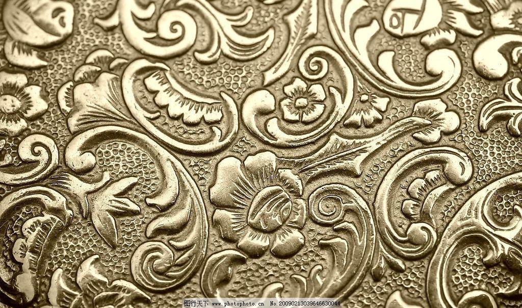 金色欧式花纹 底纹 欧式金属花纹