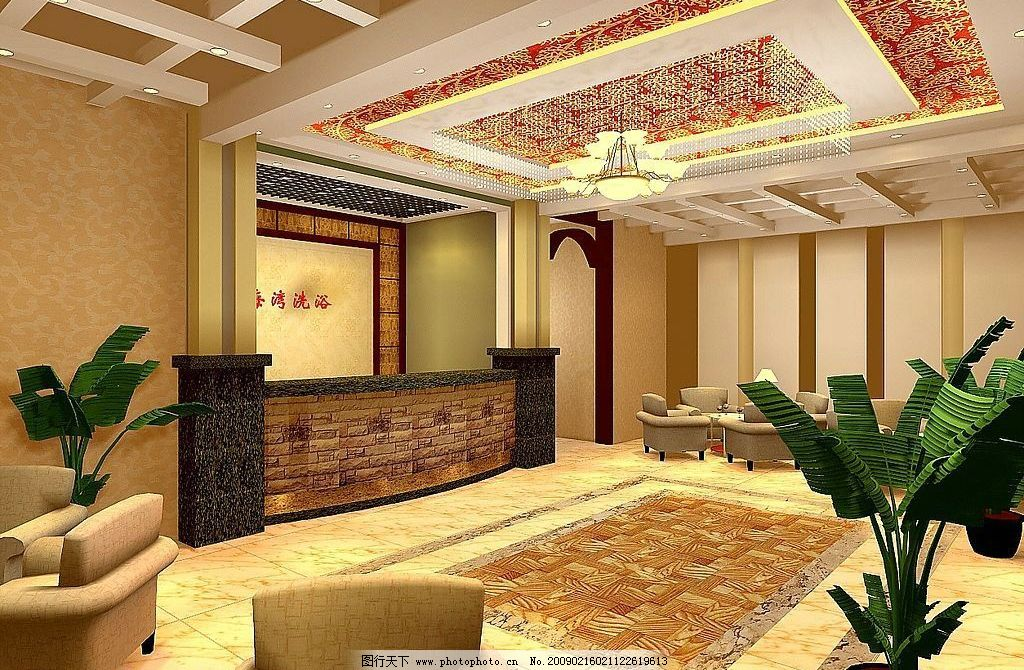 洗浴中心 3d        大厅 3d设计 3d作品 设计图库 96dpi jpg