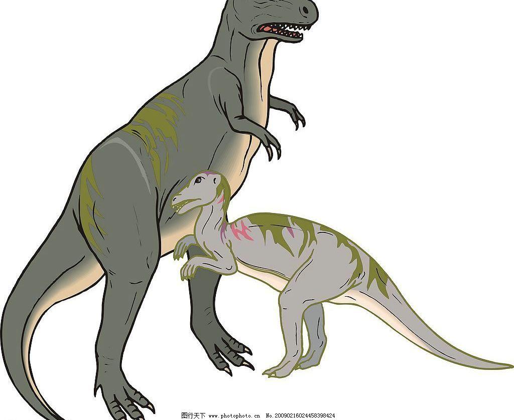 恐龙 内食动物 凶猛 高大 矢量图 矢量图库