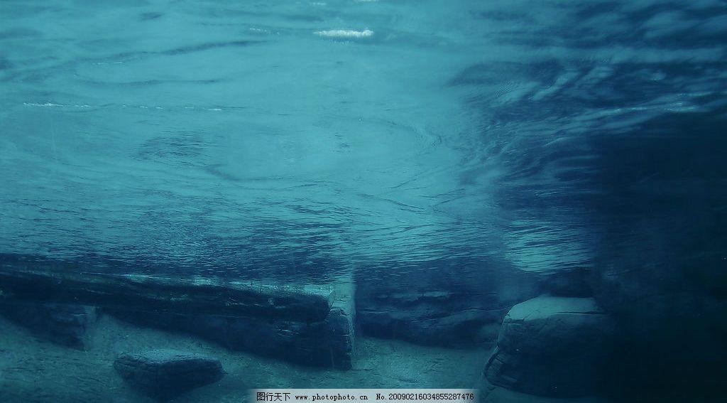 水下的世界 蓝色 宁静 海底 宽屏 自然景观 自然风光 设计图库 100dpi