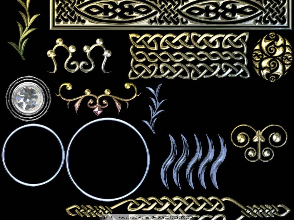 欧式豪华金属花纹图片