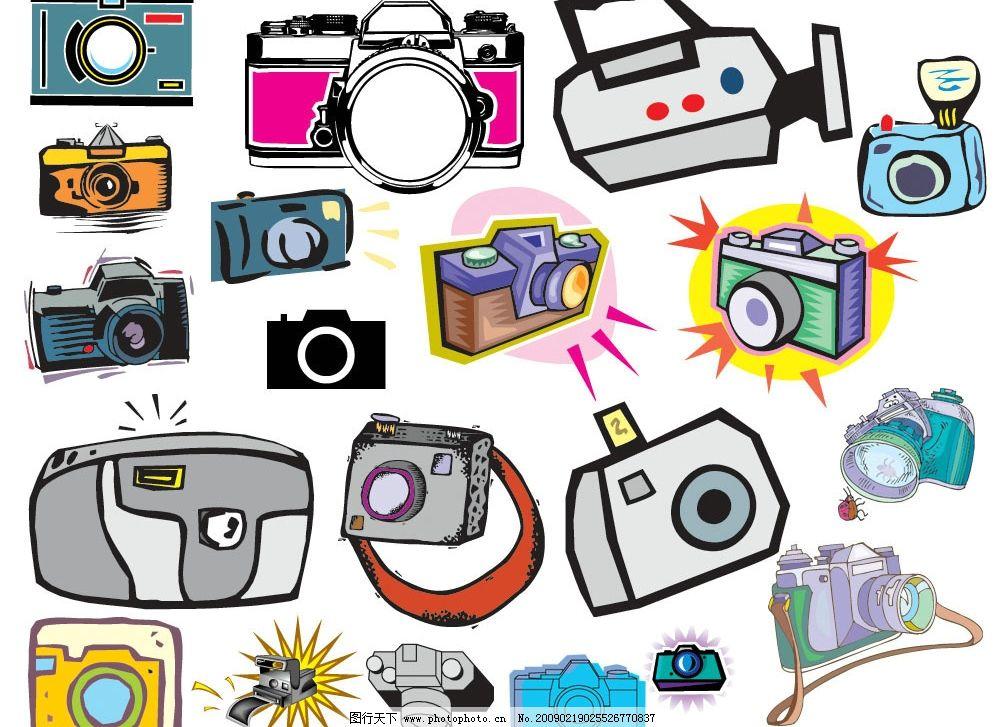 照相器材 器材 照相 矢量图 素材 生活百科 生活用品 矢量图库 eps