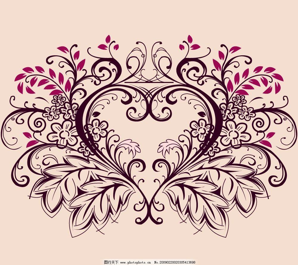 超美心形花纹花边矢量图
