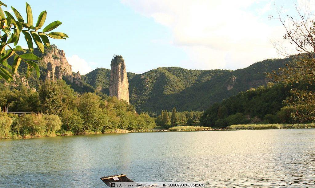 山水风景 湖光山水 蓝天 白云 船 湖水 清澈 优美 远山 树木 晴空