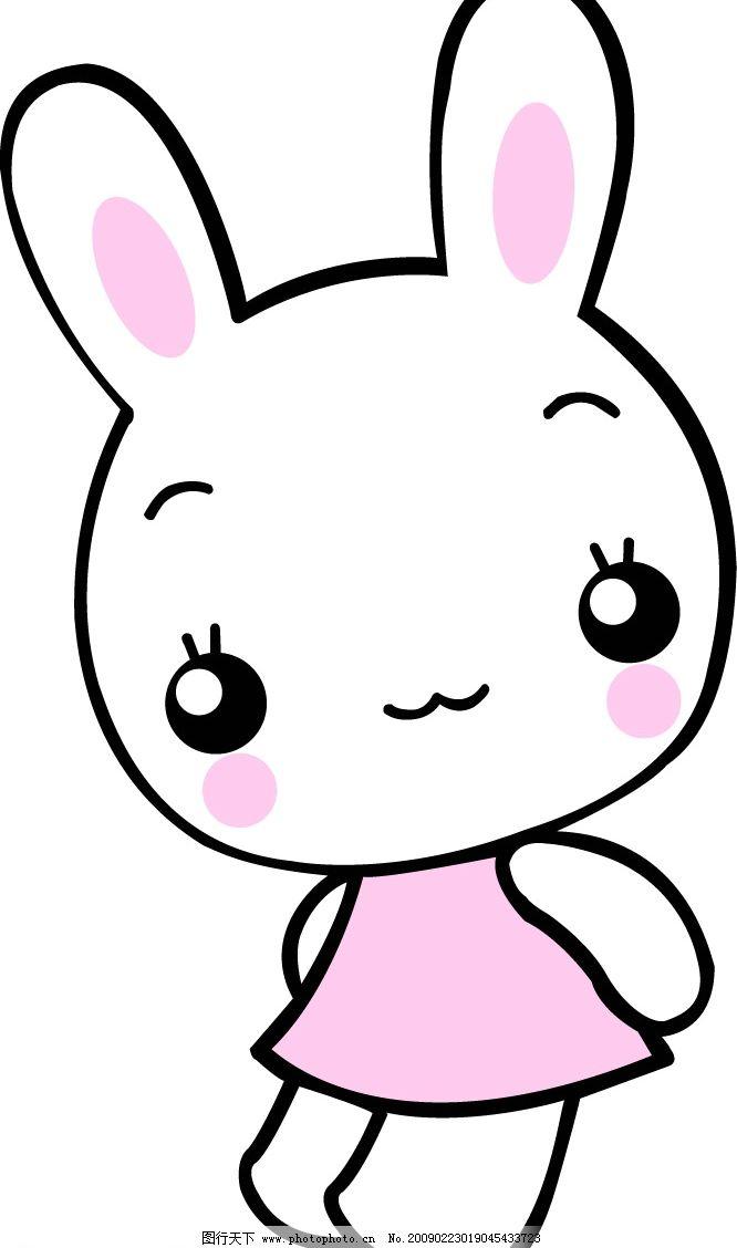 兔子简笔画 卡通呆萌小兔子简笔画图片_简笔画大全